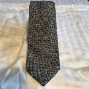 J Crew 100% Wool Thin Gray Tie